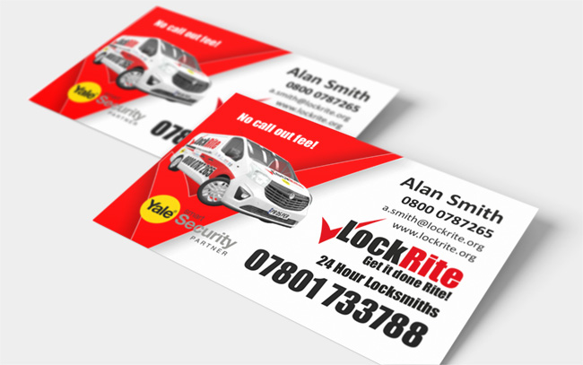 LockRite Franchisee Business Cards