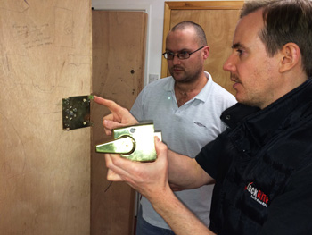 Locksmith Franchisee In Training - Learning To Fit Lock