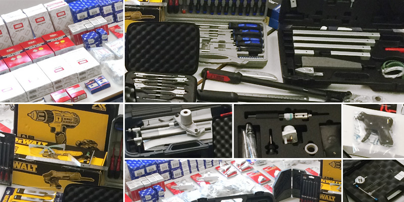 Locksmith Franchise Tools and Stock - specialist locksmith equipment including common locks, mechanisms, keys, key duplicating machine and more